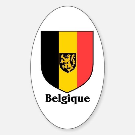 Belgique / Belgium Shield Oval Decal