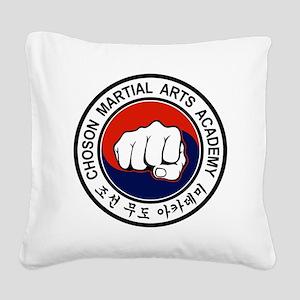 cmaa logo color logo 2011 pin Square Canvas Pillow