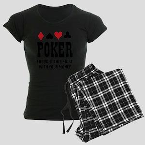 pokermoneyX1 Women's Dark Pajamas
