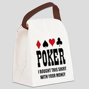 pokermoneyX1 Canvas Lunch Bag