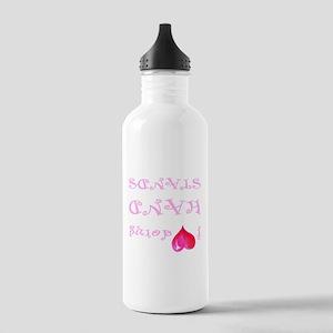 I heart doing handstands pink Water Bottle