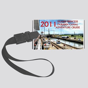 Panama Canal - rect. photo with  Large Luggage Tag