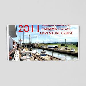 Panama Canal - rect. photo  Aluminum License Plate