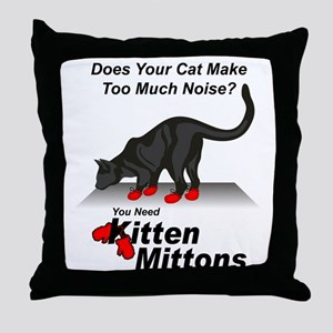 KittenMittons Throw Pillow
