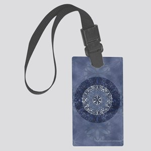 Flower of Life_Blue_5x8_journal Large Luggage Tag
