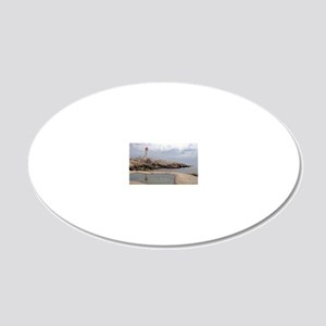 PC reflection 20x12 Oval Wall Decal