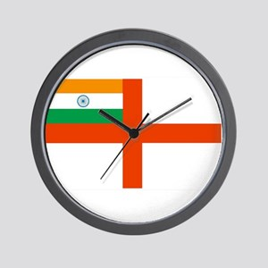 Indian Navy Flag Wall Clock