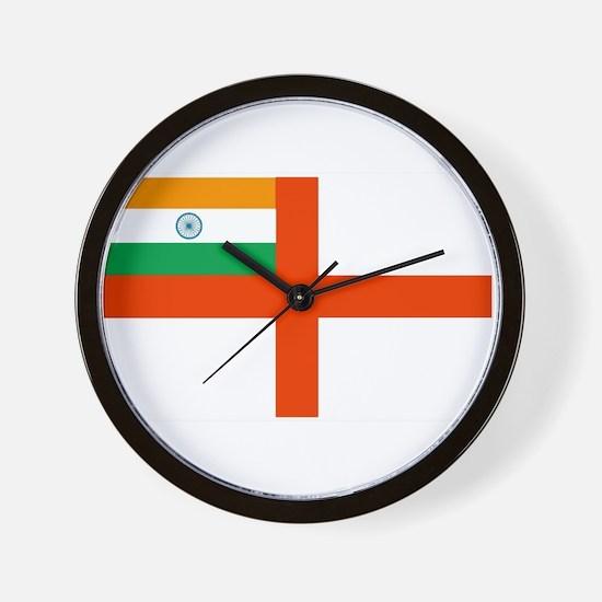 Indian Navy Flag Wall Clock