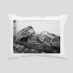 lobster traps2 Rectangular Canvas Pillow