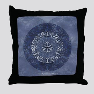 Flower of Life_Blue_9x7.5_mpad Throw Pillow
