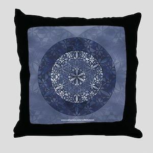 Flower of Life_Blue_9x7.5_mpad Throw Pillow