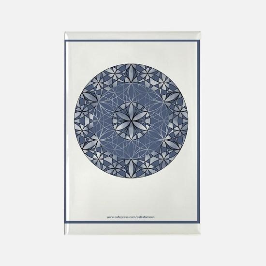 Flower of Life_Blue_9x12_framed_p Rectangle Magnet