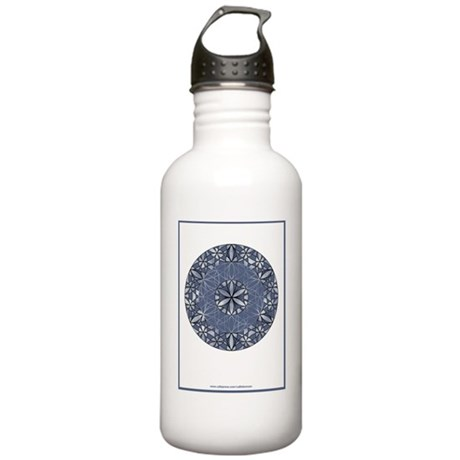 Flower of Life_Blue_9x Stainless Water Bottle 1.0L