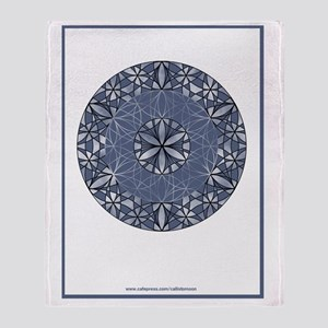 Flower of Life_Blue_9x12_framed_prin Throw Blanket