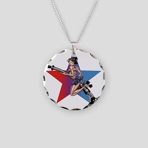 gap_girl_star Necklace Circle Charm
