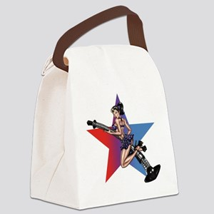 gap_girl_star Canvas Lunch Bag