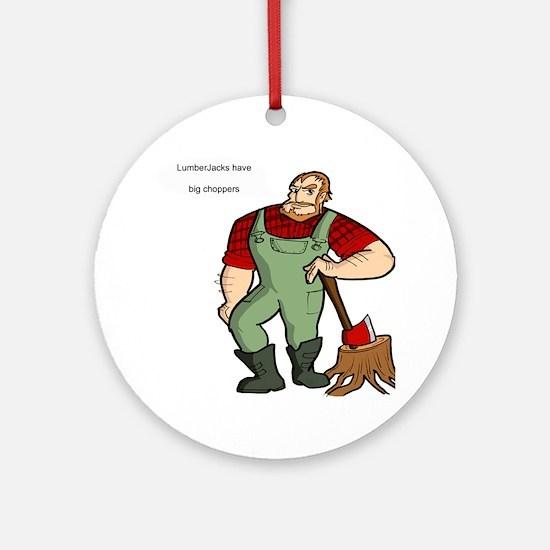 lumberjack Round Ornament