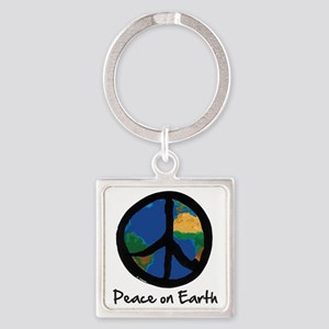 peace_on_earth Square Keychain