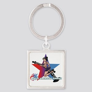 gap_girl_star_with_logo Square Keychain