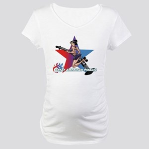gap_girl_star_with_logo Maternity T-Shirt