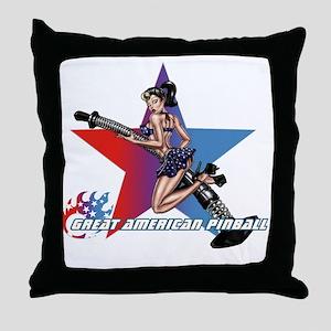 gap_girl_star_with_logo Throw Pillow