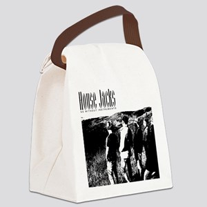 Black and White Hill Canvas Lunch Bag