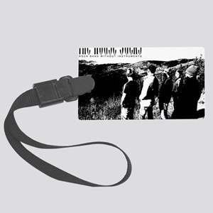 Black and White Hill Large Luggage Tag