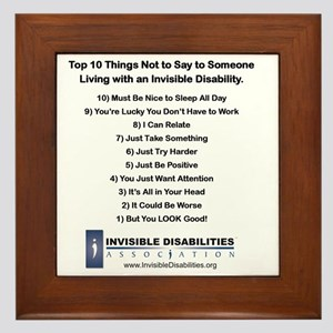 Top 10 Not to Say 8 x 8 Framed Tile