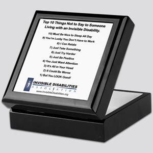 Top 10 Not to Say 8 x 8 Keepsake Box