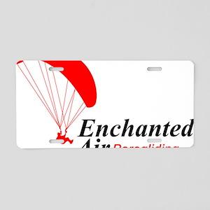 Enchanted Air Paragliding L Aluminum License Plate