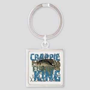 crappie fishing king Square Keychain