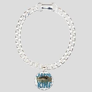 crappie fishing king Charm Bracelet, One Charm
