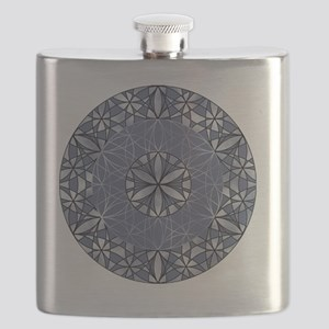 Flower of Life_Blue_ornament Flask
