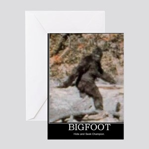 bigfoot-big-foot-hide-and-seek-demot Greeting Card