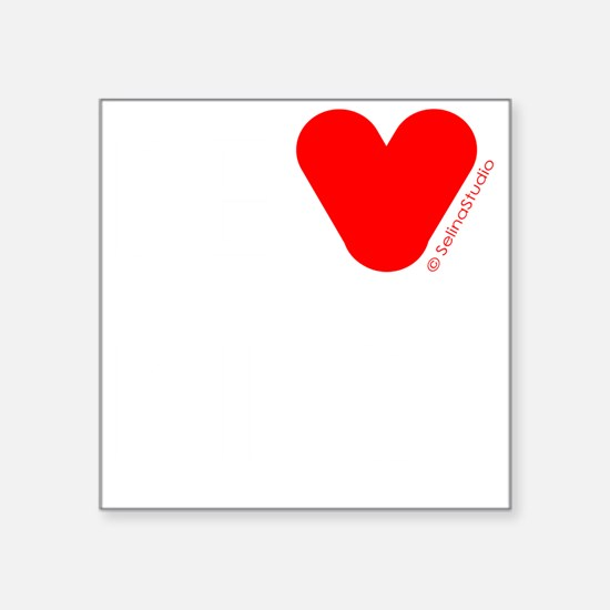 """be kind white text Square Sticker 3"""" x 3"""""""