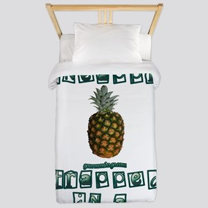 Pineapple_trapped Twin Duvet