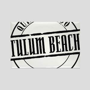 Tulum Beach Title W Rectangle Magnet