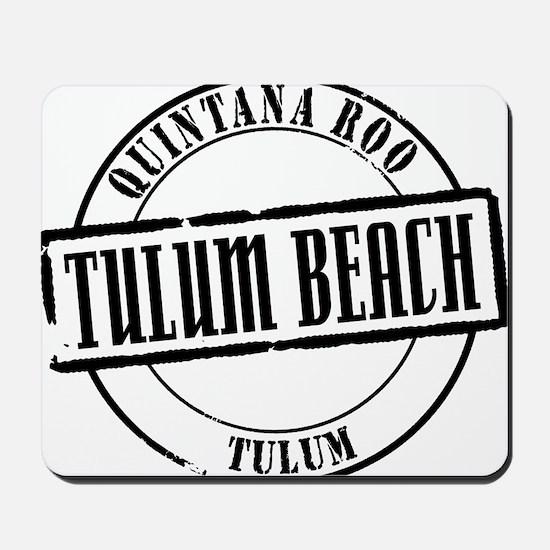 Tulum Beach Title W Mousepad