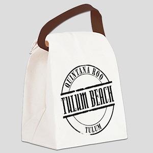 Tulum Beach Title W Canvas Lunch Bag