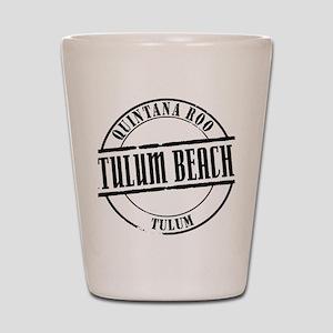 Tulum Beach Title W Shot Glass