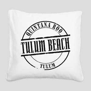Tulum Beach Title W Square Canvas Pillow