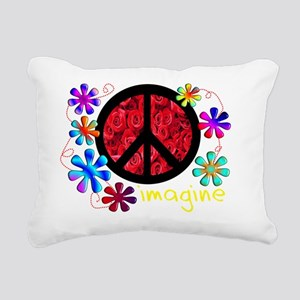 imagine peace darks 2011 Rectangular Canvas Pillow