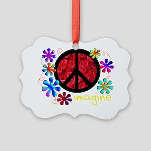 imagine peace darks 2011 Picture Ornament