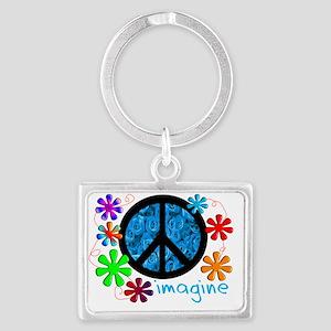 Imagine BLUE 2011 Landscape Keychain