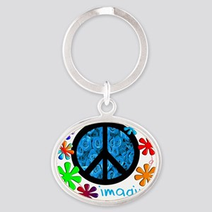 Imagine BLUE 2011 Oval Keychain