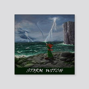 "storm-witch-poster2 Square Sticker 3"" x 3"""