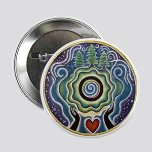 "Earth Blessing Mandala 2.25"" Button"