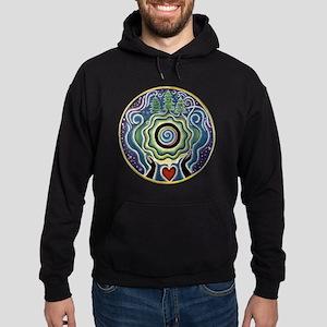 Earth Blessing Mandala Hoodie (dark)