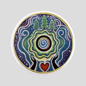 "Earth Blessing Mandala 3.5"" Button"
