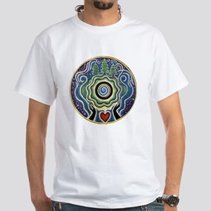 Earth Blessing Mandala White T-Shirt